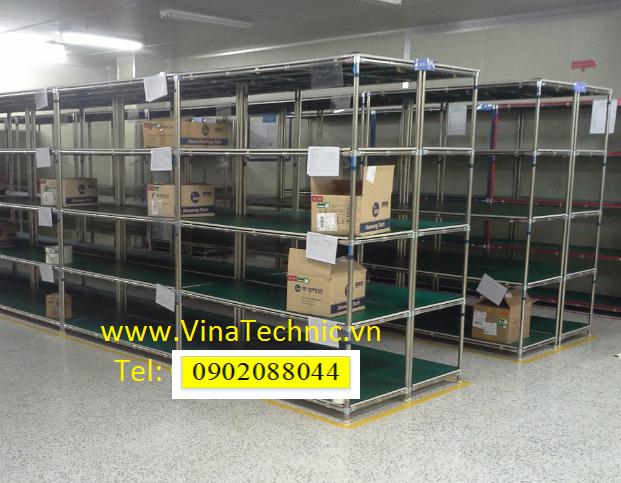 Giá hàng mặt gỗ cao su chống tĩnh điện GTR0001